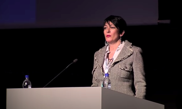 Ghislaine Maxwell speaks at the Arctic Circle Forum in Reykjavik, Iceland, in October 2013. (The Arctic Circle via Reuters)