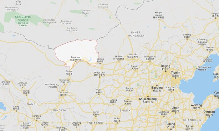 The case was found in Bayannur, located to the northwest of Beijing, according to state-run Chinese Communist Party (CCP) media outlets and local officials. (Google Maps)