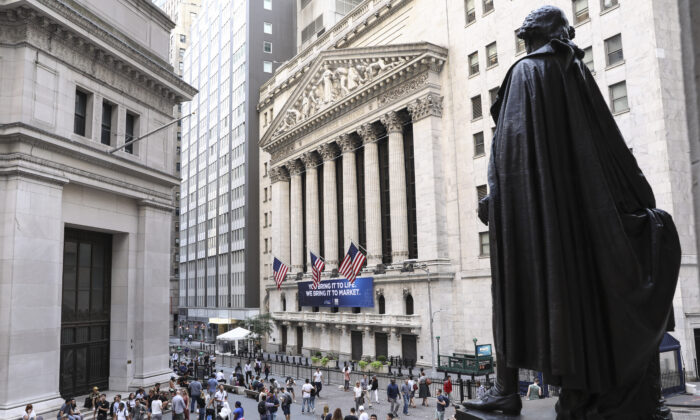 The New York Stock Exchange in New York on Aug. 16, 2019. (Samira Bouaou/The Epoch Times)