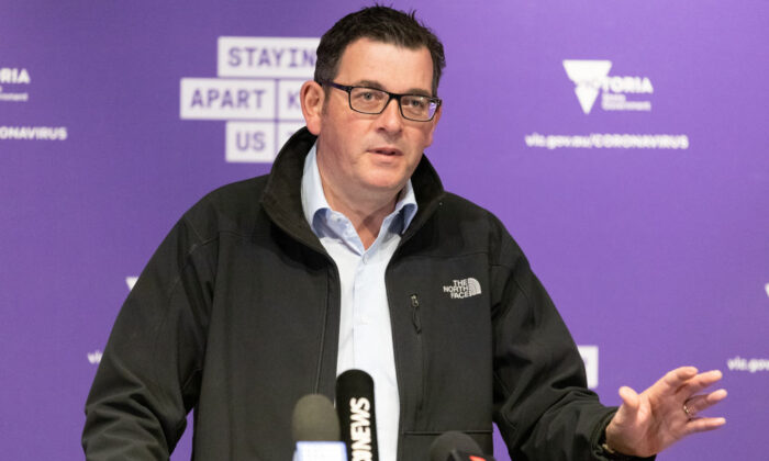 Premier of Victoria Daniel Andrews at a press conference in Melbourne, Australia on July 5, 2020. (Asanka Ratnayake/Getty Images)