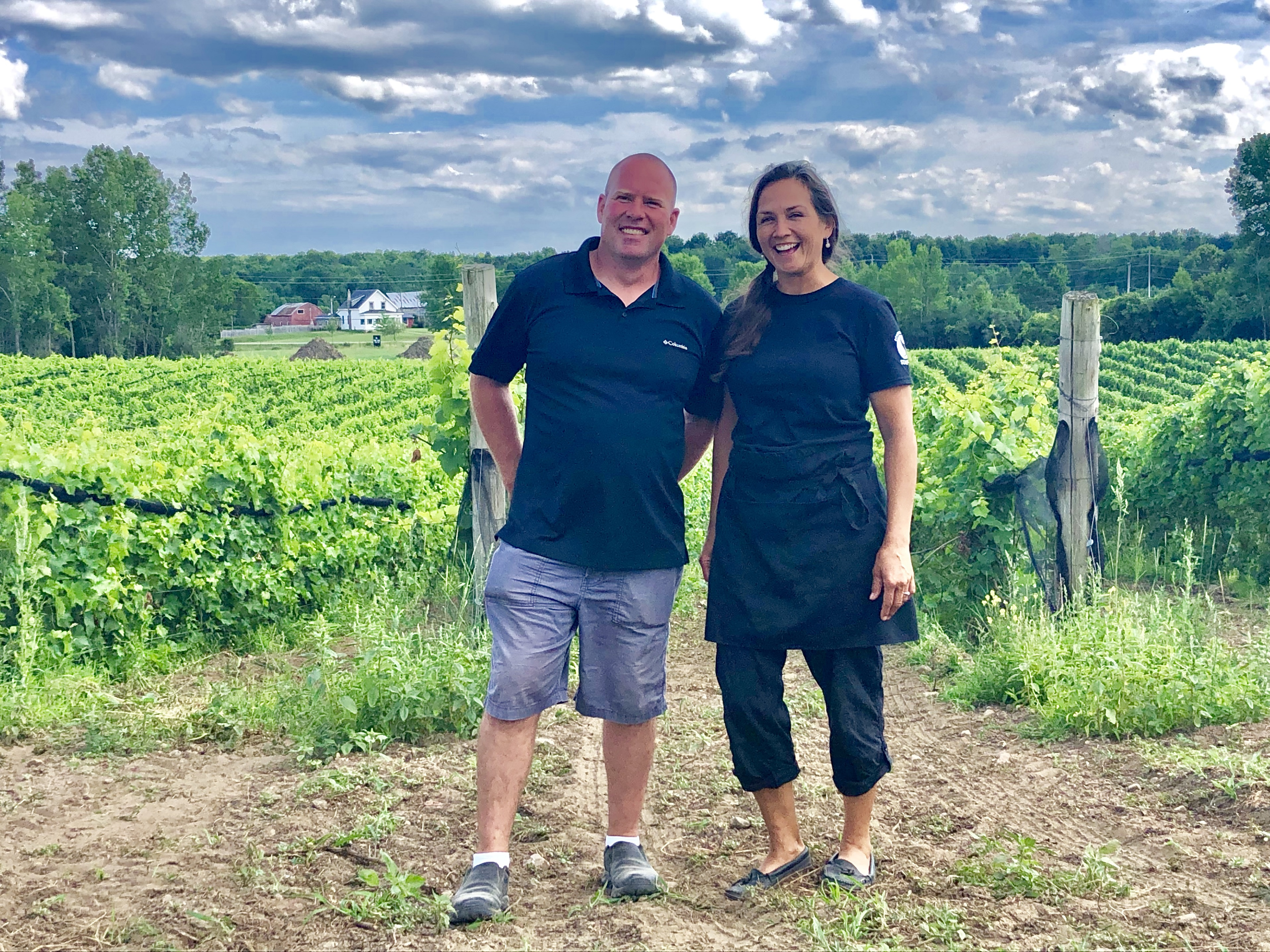 François and Allison Sheuermann at their winery