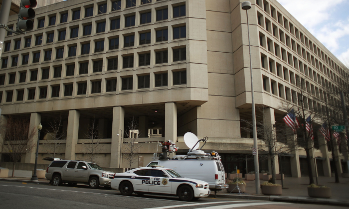 The FBI headquarters is seen on February 2, 2018 in Washington. (Mark Wilson/Getty Images)