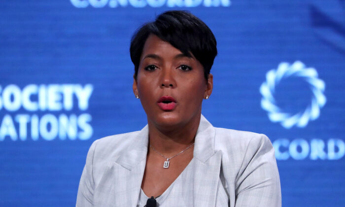 Keisha Lance Bottoms, mayor of Atlanta, Ga., speaks at the Concordia Summit in Manhattan, N.Y., on Sept. 24, 2018.  (Shannon Stapleton/Reuters)