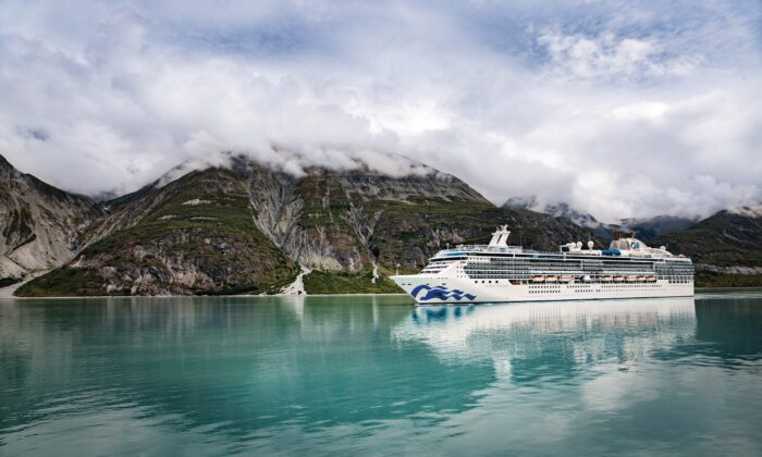 Island Princess in Glacier Bay, Alaska. (Courtesy of Princess)