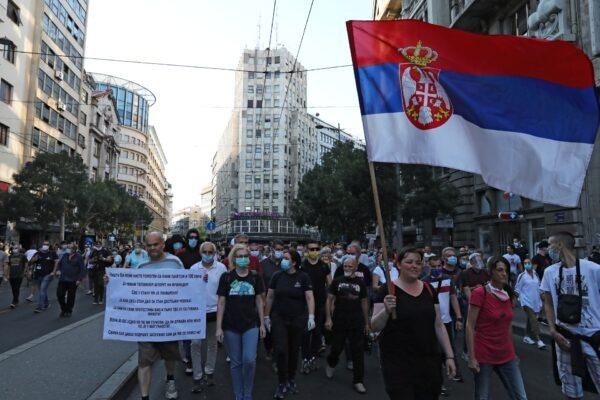 CORONAVIRUS-SERBIA-PROTESTS-2