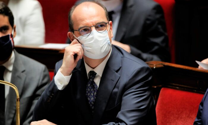 French Prime Minister Jean Castex, wearing a protective face mask, attends the questions to the government session at the National Assembly in Paris, France, on July 8, 2020. (Gonzalo Fuentes/Reuters)