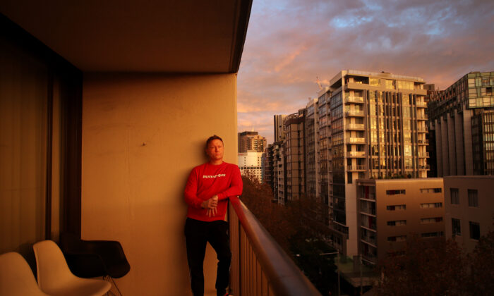 Don Arnold, Entertainment Photographer self isolates at his inner city apartment in Sydney, Australia on April 29, 2020. (Lisa Maree Williams/Getty Images)