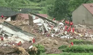 9 Buried Alive After Heavy Rains Trigger Landslides in Central China