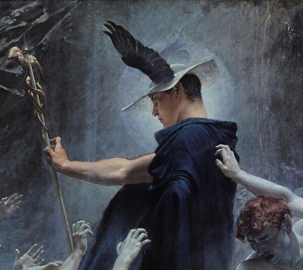 Mercury in a detail from Souls on the Banks of the Acheron