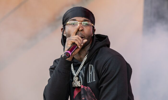 American rapper Pop Smoke performs during the Astroworld Festival at NRG Stadium in Houston, Texas, on Nov 9, 2019. (Suzanne Cordeiro/AFP via Getty)