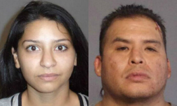 Victoria Parra Carranza, right, and Frank Montoya, right, in booking photographs. (Yuma County)