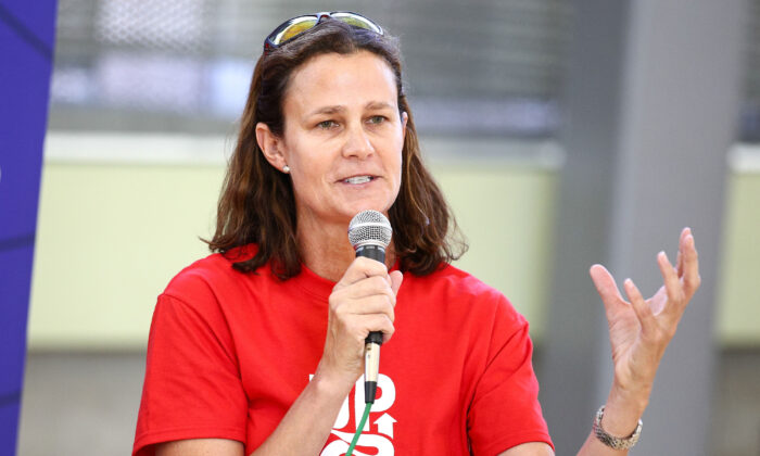 Former professional tennis player Pam Shriver attends an event in Los Angeles, Calif., on Oct. 1, 2013. (Imeh Akpanudosen/Getty Images for Up2Us)