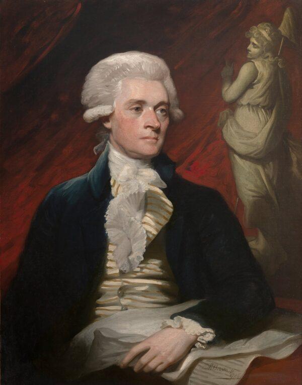 Thomas_Jefferson portrait by Mather Brown