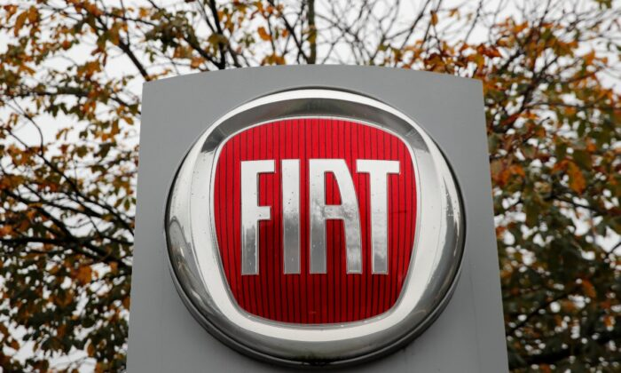The logo of car manufacturer Fiat is seen in Zurich, Switzerland, on Oct. 30, 2019. (Arnd Wiegmann/Reuters)