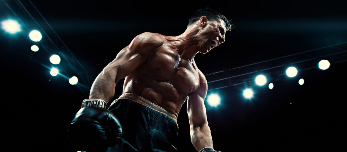 """Boxer in the ring in """"In Full Bloom"""""""
