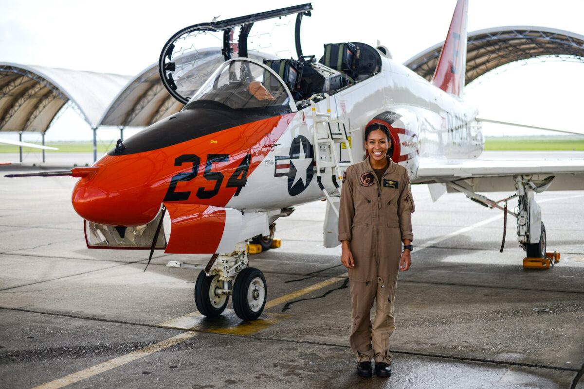 Black Female Fighter Pilot Joins Navy Ranks