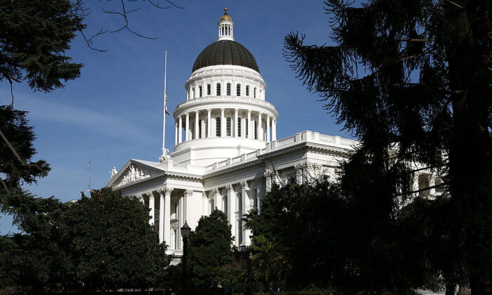 A view of the California State Capitol in Sacramento, Calif., on  Feb. 19, 2009. (Justin Sullivan/Getty Images)