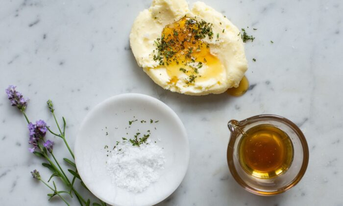 You can add salt, honey, or herbs to your butter to create a variety of flavored butters, such as this honey-lavender variation.  (Photo by Angie Mosier)