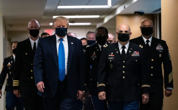 Trump Walter Reed Mask