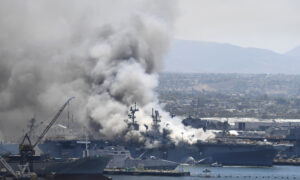 18 Injured, Explosion Reported During USS Bonhomme Richard Fire: Officials
