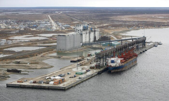 An aerial view of the port of Churchill, Manitoba, Canada, on Oct 5, 2007. (John Woods/The Canadian Press)