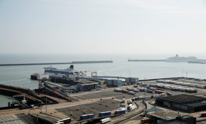 General view of the Port of Dover in Kent, Britain, on April 18, 2020. (Matthew Childs/Reuters)