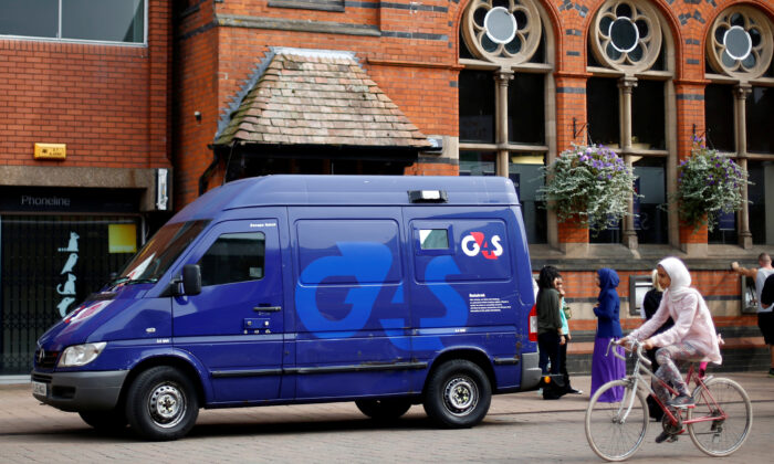A G4S security van parked outside a bank in Loughborough, central England, on Aug. 28, 2013. (Darren Staples/Reuters)