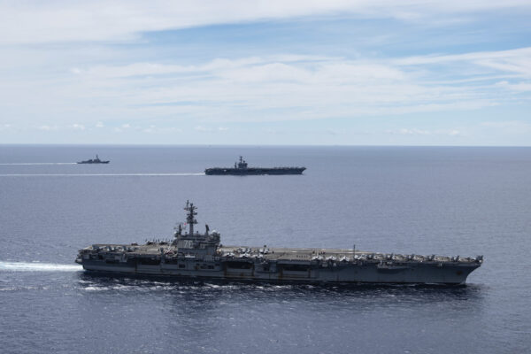 The USS Ronald Reagan and USS Nimitz