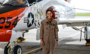 'Go Forth and Kick Butt': Navy's First Black Female Fighter Pilot Graduates, Is Set to Receive Her Wings