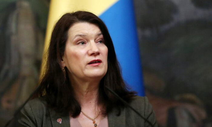 Swedish Foreign Minister Ann Linde attends a news conference with her Russian counterpart Sergei Lavrov (not pictured) in Moscow, Russia, on Feb. 4, 2020. (Evgenia Novozhenina /Reuters)