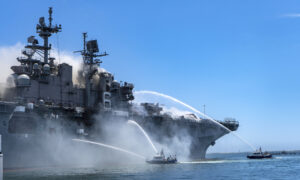 Navy Will Have to Plug Gap in Pacific Plan After Ship Fire—But Not Just Yet