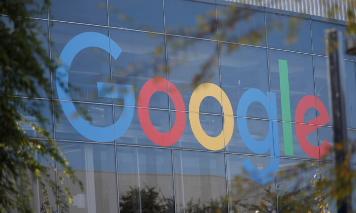 A Google logo in Mountain View, Calif., on Nov. 1, 2018. (Stephen Lam/Reuters)