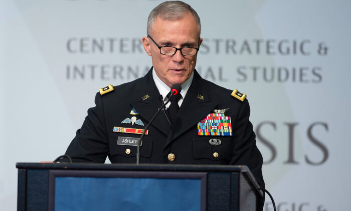 Lt. Gen. Robert Ashley, Jr., director of the Defense Intelligence Agency, speaks about national security issues at the Center for Strategic and International Studies in Washington on Sept. 17, 2018. (Saul Loeb/AFP via Getty Images)
