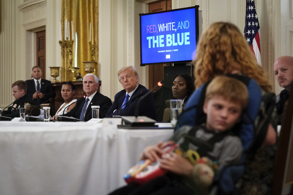 Trump Denounces `Anti-Cop Crusade,` Hears From Families Helped...