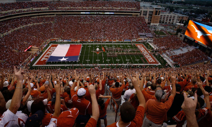 A general view of fans before a game between the Texas Tech Red Raiders and the Texas Longhorns at Darrell K Royal-Texas Memorial Stadium in Austin, Texas, on Sept. 19, 2009. (Ronald Martinez/Getty Images)