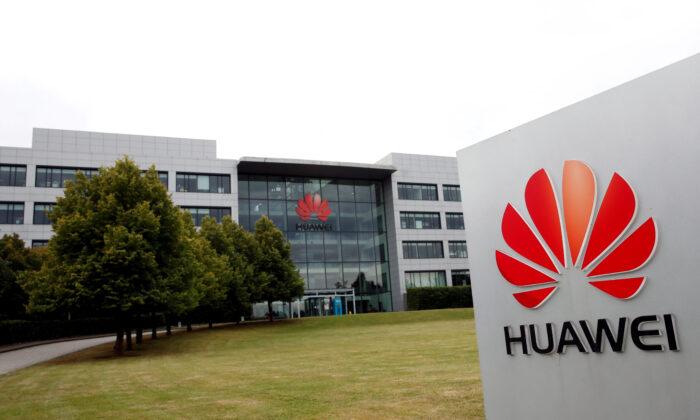 Huawei headquarters building is pictured in Reading, Britain, on July 14, 2020. (Matthew Childs/File Photo/Reuters)