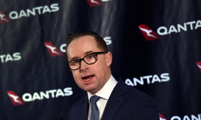 Qantas chief executive officer Alan Joyce makes changes to boost flying.  (William West/AFP via Getty Images)