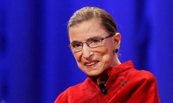 Justice Ruth Bader Ginsburg in Long Beach, Calif., on Oct. 26, 2010. (Mario Anzuoni/Reuters)