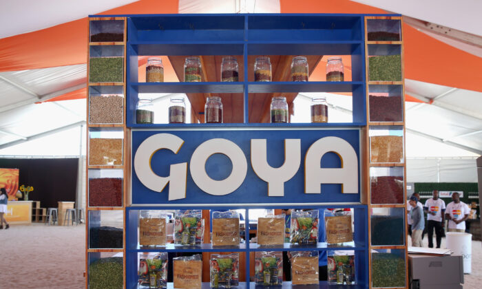 A Goya Foods stand at an event in Miami Beach, Fla., on Feb. 27, 2016. (Aaron Davidson/Getty Images)