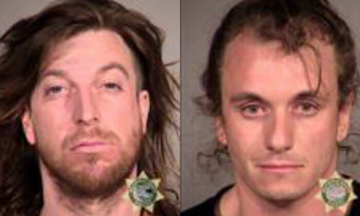 Kevin Weier, left, and Benjamin Bolen in mugshots. (Multnomah County Sheriff's Office)