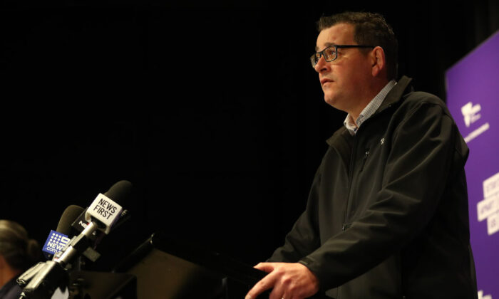 Victorian Premier Daniel Andrews speaks to the media during a press conference on July 15, 2020 in Melbourne, Australia. Victoria has recorded 238 new coronavirus cases and one death overnight. (Robert Cianflone/Getty Images)