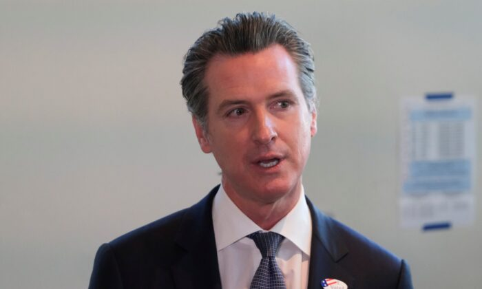California Gov. Gavin Newsom speaks to the media in Sacramento, Calif., on March 3, 2020. (Gabriela Bhaskar/Reuters)