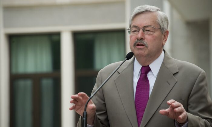 US Ambassador to China Terry Branstad speaks to the media during a press conference at his residence in Beijing on June 28, 2017. (Nicolas Asfouri/AFP via Getty Images)