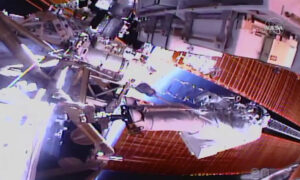 Spacewalking Astronauts Closing in on Final Battery Swaps