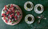 Summer Berry Cloud Cake