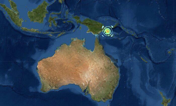 7.1 magnitude earthquake hits Papua New Guinea on July 17, 2020. (USGS)