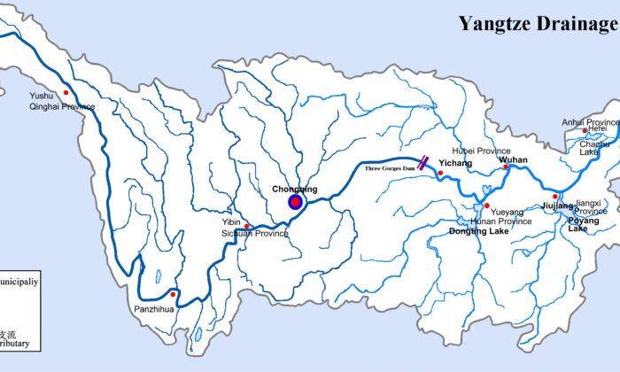 Map of the Yangtze River Basin. (Cncs/CC BY-SA)