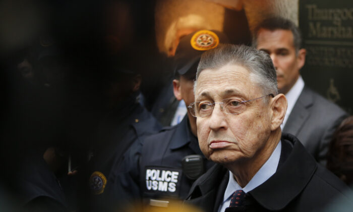 Former New York State Assembly Speaker Sheldon Silver exits federal court in New York City,  N.Y., on May 3, 2016. (Eduardo Munoz Alvarez/Getty Images)