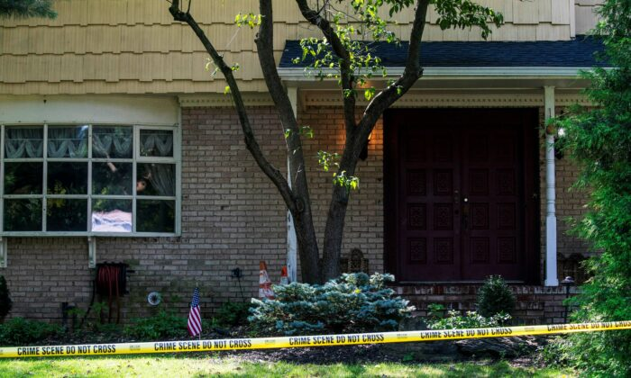 The house of federal judge Esther Salas, where her son was shot and killed and her husband was injured, in North Brunswick, N.J., on July 20, 2020. (Eduardo Munoz/Reuters)