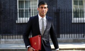 UK Public Finances Under 'Enormous Strains': Chancellor Sunak